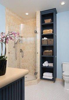 56 charming small bathroom storage remodel ideas 68 - Home Design Ideas Laundry In Bathroom, Bathroom Towels, Bathroom Shelves, Bathroom Vanities, Basement Bathroom, Master Bathroom, Bathroom Towel Storage, Tall Bathroom Cabinets, Storage For Small Bathroom