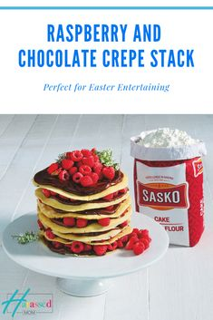 Jenny Morris's Raspberry and Chocolate Crepe Stack - Harassed but happy mommy blogger