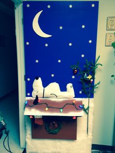 Charlie Brown Christmas- Door decorating contest.