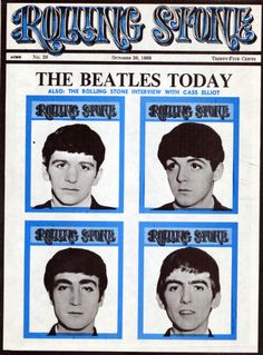 The Beatles on the cover of Rolling Stone, October 1968.