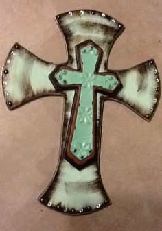 Decorative+stacked+wooden+cross+by+TickleTotCrafts+on+Etsy,+$40.00