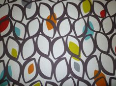 Orange Brown Tablecloth Cinnamon and Blue Funky by WickedWalls, $26.00