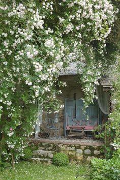 extérieur : auvent, jardin