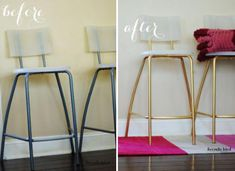 Turn a simple ikea stool into a wow worthy designer perch crafts