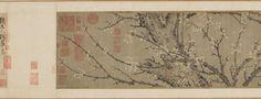 Ciruelos en flor. Tinta sobre seda. China - Siglo XIII