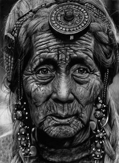 Her wrinkles tell her wonderful life's story.