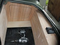 1971 Chevelle - Alien Enclosures trunk install custom walled off panels