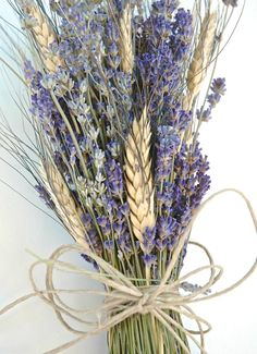 Beautiful Fall Wheat Wedding Decoration Ideas Easy To Make It Flower Girl Bouquet, Lavender Bouquet, Lavender Flowers, Dried Flowers, Lavander, Wheat Wedding, Fall Wedding, Rustic Wedding, Wedding Simple