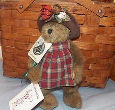 """Boyds Bears Lizzie Wishkabibble Plush Bear 9"""""""