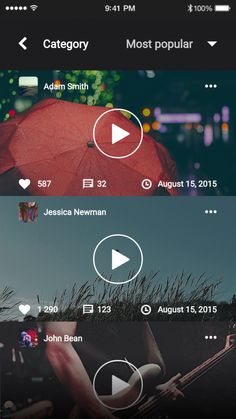 Music & Video - User interface Design Patterns and Wireframe Templates |Patterns by UXPin