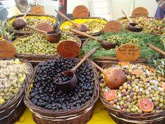 Aix en Provence Food Market - The olives!!  I miss the Olives - so many varieties!