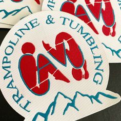 Awesome die cut patches for CAVA Trampoline & Tumbling. Custom Patches, Damask, Kids Rugs, Custom Products, Etsy, Goals, Awesome, Shop, Damascus