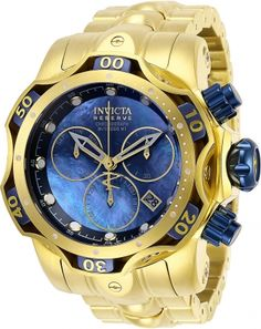 Shop for Invicta Men's 29641 'Venom' Venom Gold-Tone Silver Watch. Get free delivery at Overstock - Your Online Watches Store! Get in rewards with Club O! Patek Philippe, Harry Winston, Tag Heuer, Devon, Omega, Cartier, Brand Name Watches, Online Watch Store, Luxury Watches For Men
