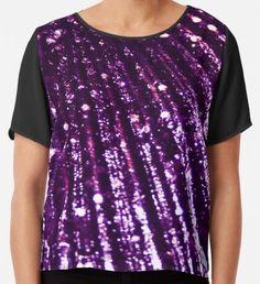 Triton´s Secrets - Royal Purple  Chiffon Top Purple Art, Yellow Art, Green Art, Dark Purple, Watercolor Circles, Watercolor Texture, Watercolor Pattern, Mermaid Art, Wearable Art