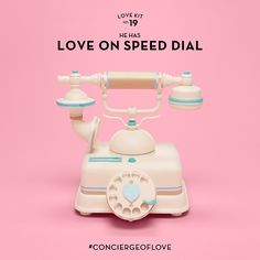Tiffany's 2015 Valentine's Day Campaign. Colorful props, old love rotary phone. Pink, blue, and cream/off-white. (Prop Styling by The Makerie Studio & Zachary Maruskin.)