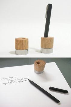 INEL Design Product from South Korea Concrete Art, Office Items, Pencil Holder, Kiosk, Desk Accessories, Design Thinking, Corporate Gifts, Wood Carving, South Korea