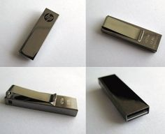 Stainless Clip USB flash drive, metal clip USB memory sticks, HP