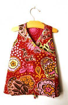 DIY Wrap around dress for little girls