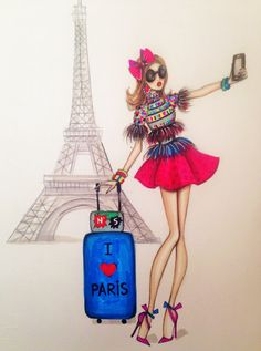 ORIGINAL Fashion Illustration-Paris by loveillustration on Etsy