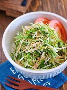 抱えて食べたい♪『水菜ともやしとツナのごまマヨサラダ』 by Yuu   レシピサイト「Nadia   ナディア」プロの料理を無料で検索