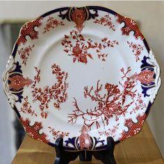 Royal Crown Derby Imari cake plate Royal Crown Derby, Japanese Textiles, Cake Plates, Porcelain, China, Patterns, Tableware, Floral, Color
