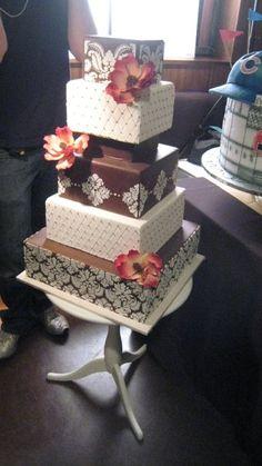 my favorite cake girls cake! Girl Cakes, Cake Girls, Beautiful Cakes, Amazing Cakes, Cotton Candy Wedding, Chocolate Transfer Sheets, Square Cakes, Cake Creations, Celebration Cakes