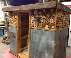 this guy's diy sauna- awesome!
