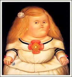 Menina (After Velazquez) - Fernando Botero