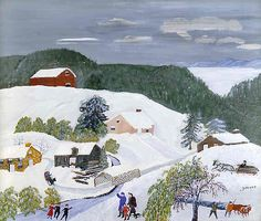 Painting by Grandma Moses (my very first artist whom I thought was pretty cool)
