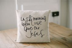 Throw Pillow - Give Me Jesus, present, housewarming gift, cushion cover, throw pillow, cushion, Bible verse by ParrisChicBoutique on Etsy https://www.etsy.com/listing/253587472/throw-pillow-give-me-jesus-present