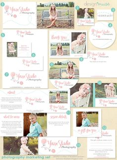 Photography Marketing Set with Logo - Premade Template Kit for Photographers. $40.00, via Etsy.