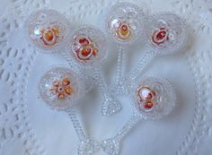 6 Clear Baby Rattles for Baby Shower by JuliasLovelyCrafts on Etsy, $2.75