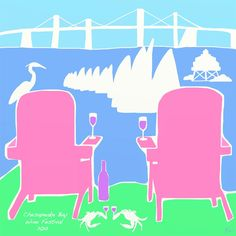 Love @AmandaCBee's poster submission for 2012's Chesapeake Bay Wine Festival!