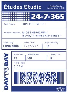 etudes-studio:  Études Studio X CLOT Pop Up store is opening tomorrow @juice SW Hong KongOct 10th6-8 pmCome party and have fun!