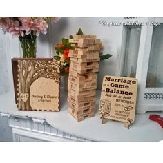 Great Wedding Gifts, Custom Wedding Gifts, Wedding Keepsakes, Bridal Gifts, Personalized Wedding, Jenga Wedding Guest Book, Jenga Guest Book, Wedding Book, Wedding Favors