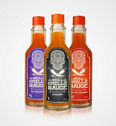 This package was created for the fictitious brand skull chilli sauce just for study and appreciation. I believe that the packaging has been beautiful and created a beautiful set of packaging.  Designed by Diego Bolgioni