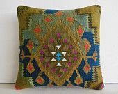 DECORATIVE PILLOW Decorative Throw Pillow Kilim Pillow Cover Turkish Cushion Case aztec rug southwest eclectic outdoor decor Elk Grove brown