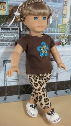 18 inch Doll Clothes American Girl Flowered Tee by nayasdesigns, $22.50