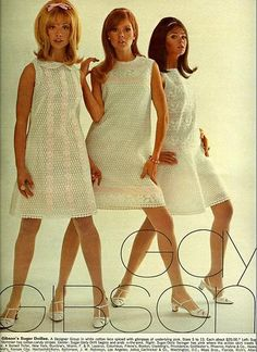 Gay Gibson dresses advert (with fab 60s hair!).
