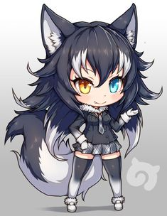 Neko is Love ❤❤ Anime Neko, Cute Anime Chibi, Fanarts Anime, Kawaii Chibi, Kawaii Anime Girl, Manga Anime, Anime Wolf Girl, Girls Anime, Anime Art Girl
