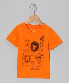 Take a look at this Orange Mane Attraction Organic Tee - Girls by Hatchling on #zulily today!