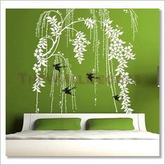 Wall Decals -- Weeping Willow - Click Image to Close
