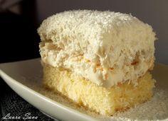 Items similar to Raffaello Cake PDF Recipe on Etsy Romanian Desserts, Romanian Food, Just Desserts, Delicious Desserts, Yummy Food, Cake Recipes, Dessert Recipes, Homemade Sweets, Sweet Tarts