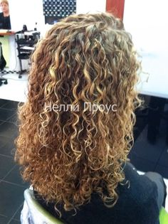 beautiful texture and color with this spiral perm