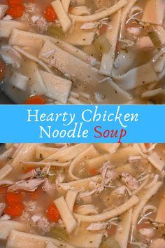 Hearty Chicken Noodle Soup #Hearty #Chicken #Noodle #Soup