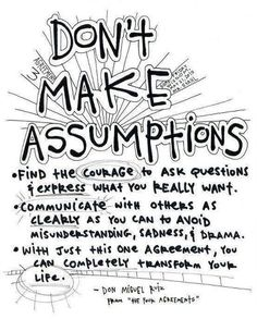 Don't ASSUME. Great for ALL TEENAGE (especially girl) DRAMA!