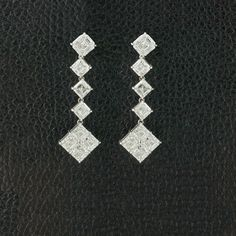 Asscher cut Diamond Dangle Earrings – CRAIGER DRAKE DESIGNS®