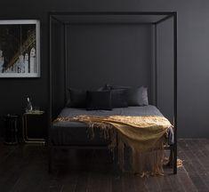 Décor do dia: quarto preto, minimalista e elegante