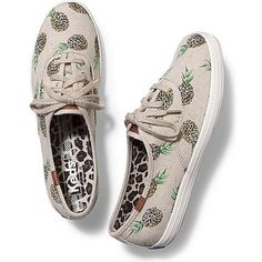 Keds CHAMPION FRUITY ANIMALS (3.675 RUB) ❤ liked on Polyvore featuring shoes, sneakers, natural pineapple, lace shoes, pineapple shoes, lace sneakers, animal shoes and animal print sneakers