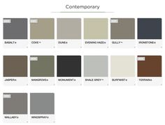 The complete range of Ideal Garage doors are available in both contempory and classic colourbond colours. Exterior Paint Schemes, Exterior Paint Colors For House, Paint Colors For Home, Exterior Colors, Paint Colours, House Color Schemes, Colour Schemes, Colour Chart, Color Combinations